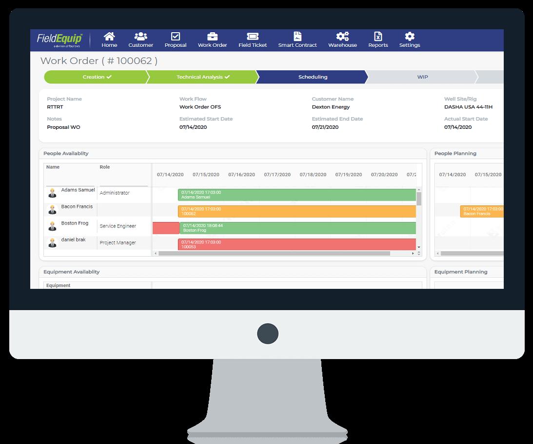 Screenshot of Field Technician Scheduling Software