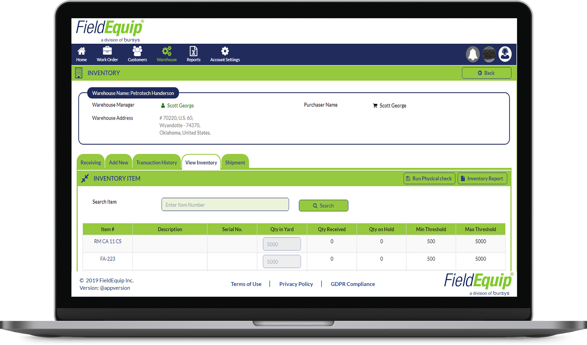 Inventory Field Service Solution