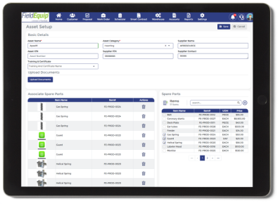 Asset Management Tool for Technician