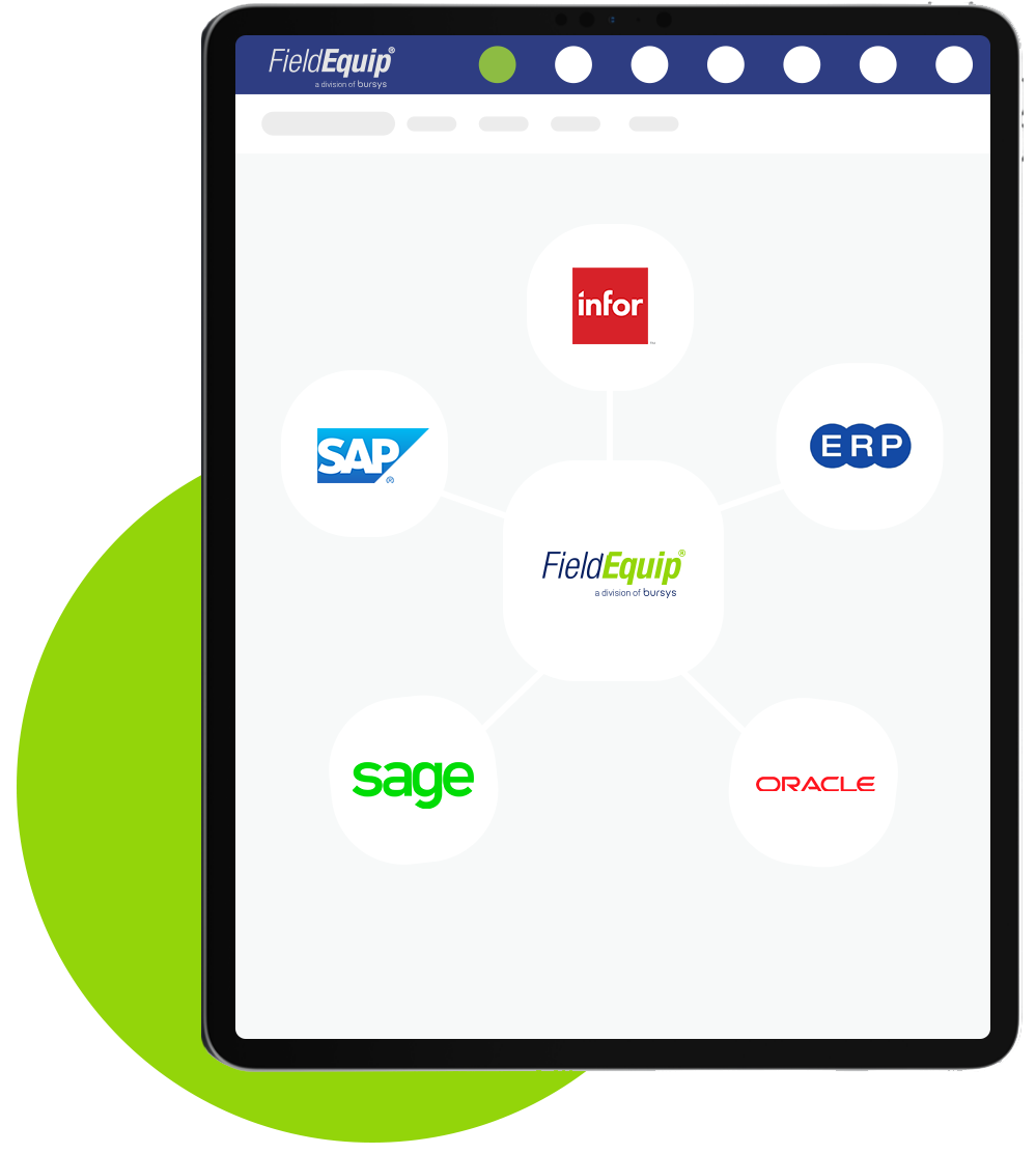FieldEquip Integration with SAP, Quickbooks and CRM Systems