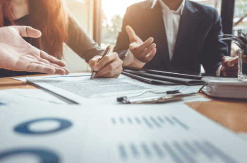 A roundtable of business professionals