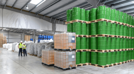 A warehouse of chemicals