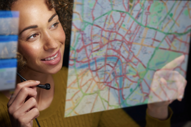 Back office using location data for technician scheduling
