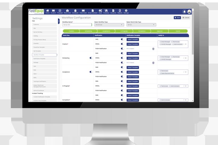 field service management workflow